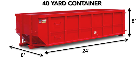 40 yard roll-off Dumpster