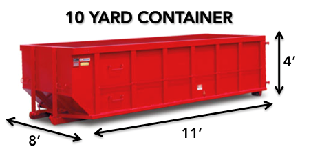 10 yard roll-off Dumpster