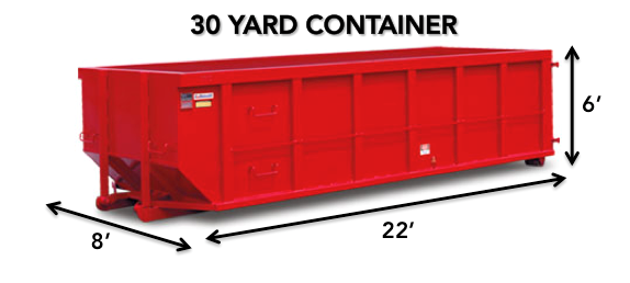 30 yard roll-off Dumpster