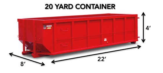 20 yard roll-off Dumpster